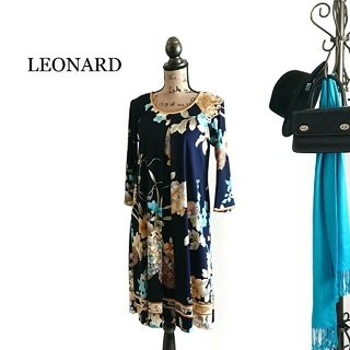 LEONARD - LEONARD レオナール ワンピース ダークネイビー