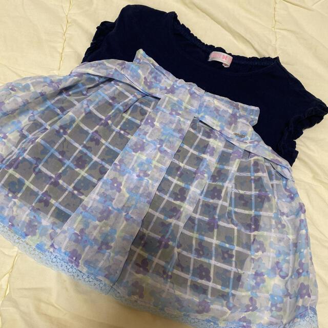 mezzo piano(メゾピアノ)のメゾピアノ 120 Tシャツ キッズ/ベビー/マタニティのキッズ服女の子用(90cm~)(Tシャツ/カットソー)の商品写真