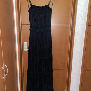 エメ(AIMER)のロングドレス ブラック AIMER コンサート発表会 結婚式二次会(ロングドレス)