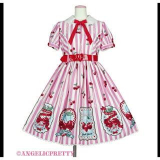 アンジェリックプリティー(Angelic Pretty)のアンジェリックプリティ Cherry Stampワンピース - ピンク(ひざ丈ワンピース)