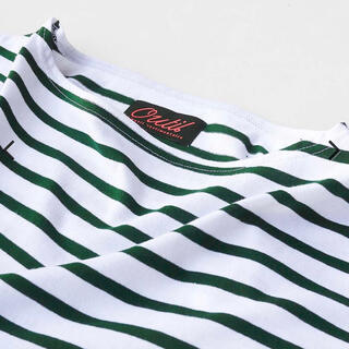 COMOLI - OUTIL (ウティ)TRICOT AAST (WHITE / GREEN)