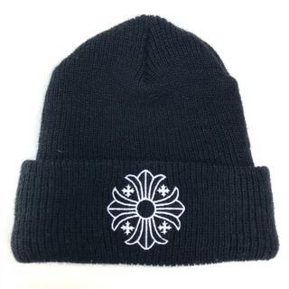 クロムハーツ(Chrome Hearts)のクロムハーツ 2238-304-4100 CHプラス ロゴ ニット帽 ブラック(ニット帽/ビーニー)
