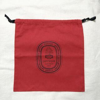 ディプティック(diptyque)のディプティック ショッパー 巾着 (大) 赤(ショップ袋)