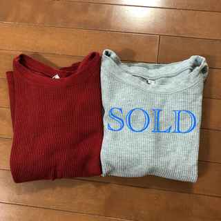 ユニクロ(UNIQLO)のユニクロ ワッフルクルーネック S(Tシャツ(長袖/七分))