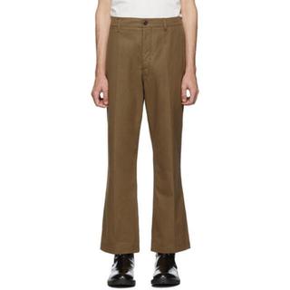 ルメール(LEMAIRE)のlemaire chino trousers 46 brown(チノパン)