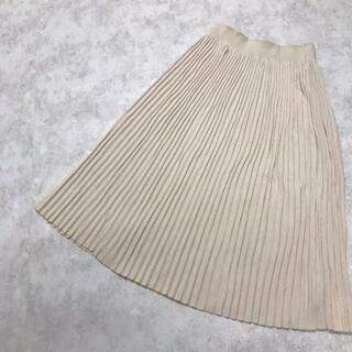 ザラ(ZARA)の● ZARA ザラ リブニット プリーツスカート(ロングスカート)