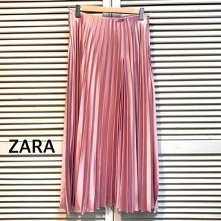 ザラ(ZARA)の【ZARA】光沢 ロングプリーツスカート(ロングスカート)