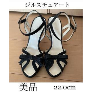 JILLSTUART - ジルスチュアート サンダル リボン 黒 ブラック 22cm