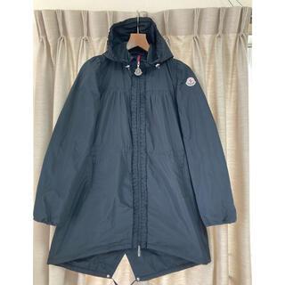 モンクレール(MONCLER)の美品 モンクレール スプリングコート フリル フード ナイロンジャケット 黒(スプリングコート)