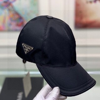 ◎PRADA プラダ ロゴ キャップ ブラック 黒 帽子