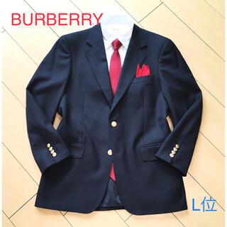 バーバリー(BURBERRY)の極美品★バーバリー 紺ブレザー 極上ネイビージャケット 金釦 ホースロゴA148(テーラードジャケット)