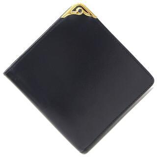 カルティエ(Cartier)の カルティエ 二つ折り財布 サファイアライン ネイビー(財布)