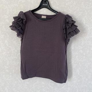 petit main - プティマイン チュール袖 Tシャツ