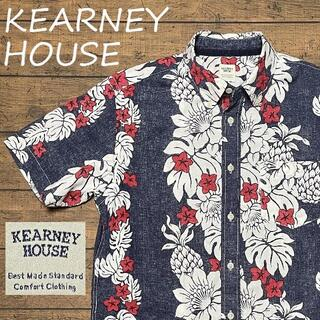 KEARNEY HOUSE アロハシャツ Mサイズ/カーニーハウス、ボタンダウン