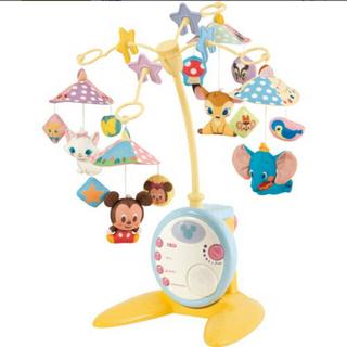 タカラトミー(Takara Tomy)の折りたたみベビーベッドにも対応♪やわらかガラガラメリーデラックスプラス おもちゃ(オルゴールメリー/モービル)