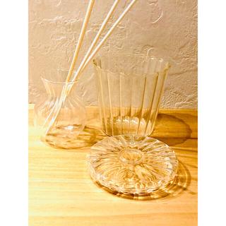 ムジルシリョウヒン(MUJI (無印良品))のアロマディフューザー瓶 クリアガラス 2個1組(アロマポット/アロマランプ/芳香器)
