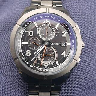 シチズン(CITIZEN)のシチズン アテッサ ブラックチタン 電波ソーラー(腕時計(アナログ))