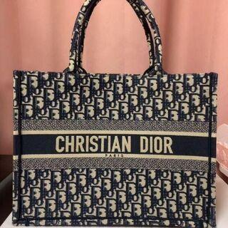 Christian Dior - ディオールブックトート ネイビー トートバッグ