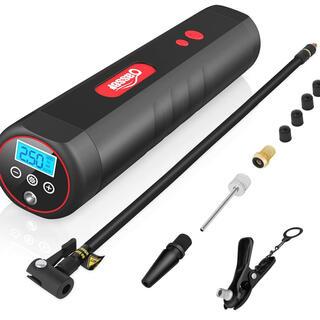 電動空気入れ 電動エアコンプレッサー 2000mAh大容量バッテリー 充電式