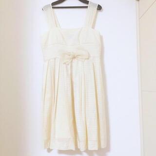 エミリーテンプルキュート(Emily Temple cute)の新品未使用♡定価12,000円♡Barbie白ドレスワンピース(ひざ丈ワンピース)