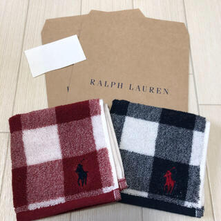 ラルフローレン(Ralph Lauren)の新品★ラルフローレン タオルハンカチ 2枚セット(ハンカチ)