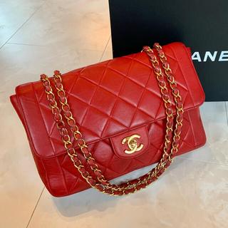 CHANEL - 正規品◆レアカラー CHANEL マトラッセ チェーンバッグ 赤