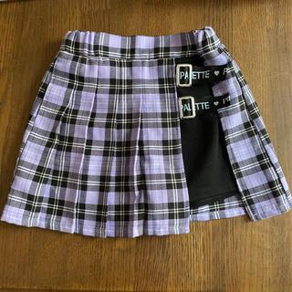ショートパンツ付きスカート チェック 120cm(パンツ/スパッツ)