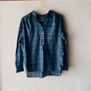 ヒューマンウーマン(HUMAN WOMAN)のHUMAN WOMAN コットンチェックシャツ(シャツ/ブラウス(長袖/七分))