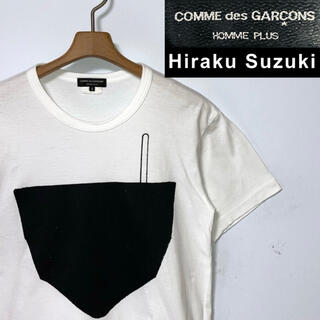 コムデギャルソンオムプリュス(COMME des GARCONS HOMME PLUS)の希少!日本製!コムデギャルソンオムプリュス × 鈴木ヒラク 限定コラボTシャツ(Tシャツ/カットソー(半袖/袖なし))