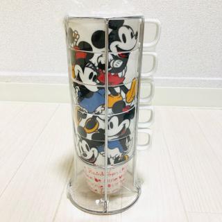 フランフラン(Francfranc)の未使用! ミッキー&ミニー ディズニータワーマグカップ 5個セット フランフラン(グラス/カップ)
