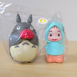 ジブリ(ジブリ)の【新品】めい(カッパ) 大トトロ 指人形 となりのトトロ ジブリ(キャラクターグッズ)