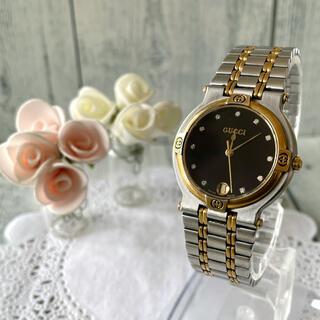 グッチ(Gucci)の【動作OK】GUCCI グッチ 腕時計 9000M 11P ダイヤ ゴールド(腕時計(アナログ))