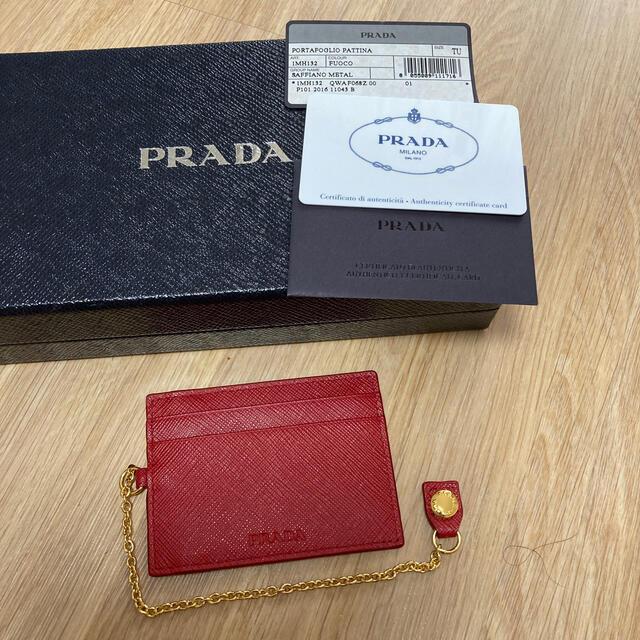 PRADA(プラダ)のお値下げ プラダ パスケース 新品未使用 レディースのファッション小物(名刺入れ/定期入れ)の商品写真
