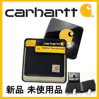 カーハート(carhartt)の★新品 未使用 カーハート キャンバスパスケース ウォレット ブラック(折り財布)