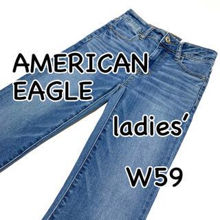 アメリカンイーグル(American Eagle)の新品・未使用 アメリカンイーグル ハイライズ ジェギング クロップ US0(デニム/ジーンズ)