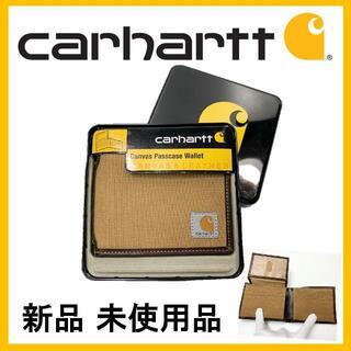 カーハート(carhartt)の★新品 未使用 カーハート キャンバスパスケース ウォレット ブラウン(折り財布)
