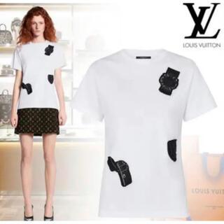 ルイヴィトン(LOUIS VUITTON)の正規品 ルイヴィトン Tシャツ 刺繍入り(Tシャツ(半袖/袖なし))