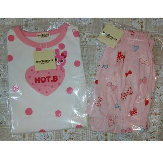 HOT BISCUITS - 【新品】ミキハウス ホットビスケッツ Tシャツ&パンツ 2点セット 80