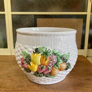 陶器鉢カバーフルーツデコレーション(プランター)