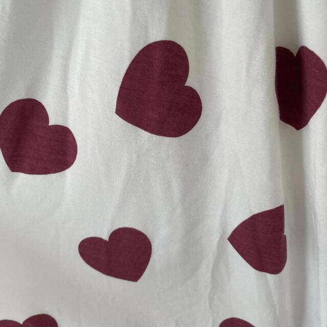 gelato pique(ジェラートピケ)の【新品未使用品】ジェラピケ ハート柄ドレス レディースのルームウェア/パジャマ(ルームウェア)の商品写真