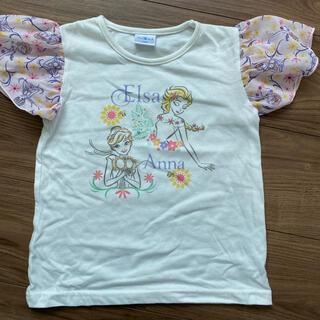 肩シフォン アナ雪 Tシャツ(Tシャツ/カットソー)