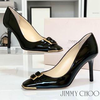 JIMMY CHOO - 2432 ジミーチュウ パテント パンプス 黒