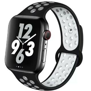 Apple Watch スポーツ バンド 38/40mm ブラック/ホワイト