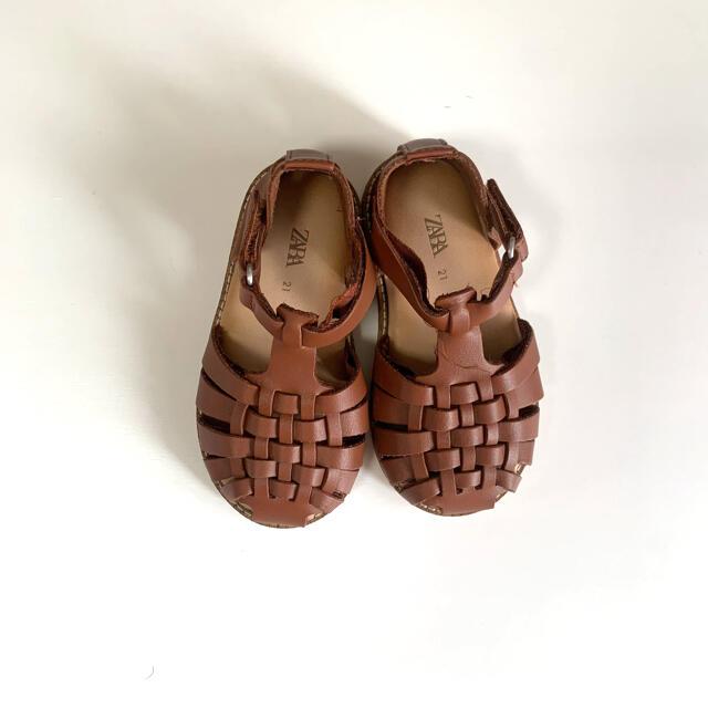 ZARA KIDS(ザラキッズ)の21 ベビーサンダル ZARA ザラ ザラベビー ザラキッズ キッズ/ベビー/マタニティのベビー靴/シューズ(~14cm)(サンダル)の商品写真