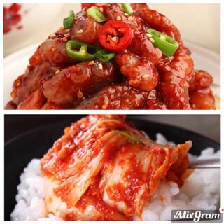 韓国 白菜キムチ&タコチャンジャ(漬物)