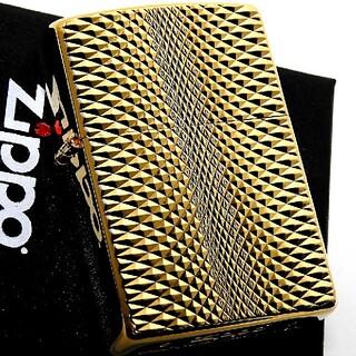 ZIPPO - (送料込み)ZIPPO◇両面/ダイヤモンドカット◇24k◇金タンク◇新品◇ジッポ