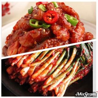 韓国 ネギキムチ&タコチャンジャ(漬物)