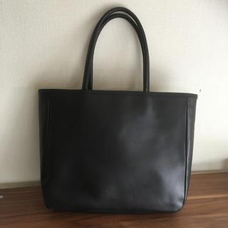 ムジルシリョウヒン(MUJI (無印良品))の無印良品 合皮肩掛けバッグ 黒(トートバッグ)
