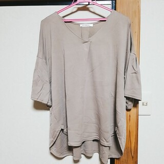 大きいサイズ フレア袖 3L(カットソー(半袖/袖なし))