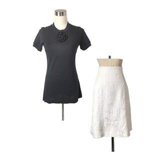 DOLCE&GABBANA - DOLCE&GABBANAセット ふわふわ立体お花Tシャツ&ジャカードスカート